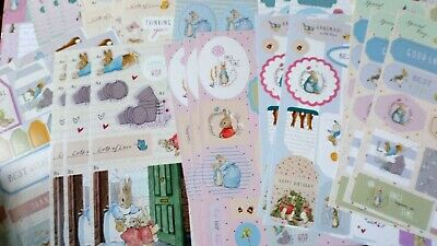 £75 Peter Rabbit 60+ A4 Sheets Die Cut Toppers Sentiments Backing Papers