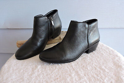 ca7e0c583 SAM EDELMAN REYES Black Leather Ankle Boots Size 6.5 Sam Edelman ...
