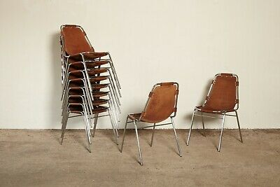 Set of 10 / 8 / 6 / 4 Les Arcs Chairs by Charlotte Perriand, 1970s