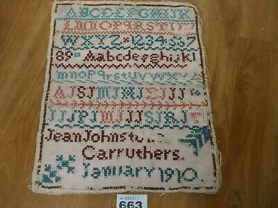 Antique Sampler Jan 1910 Alphabet