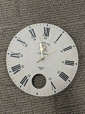 Medium wall clock, white french antique style