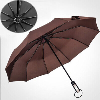 Compact Umbrella Automatic Folding Windproof Strong Travel Wind UK