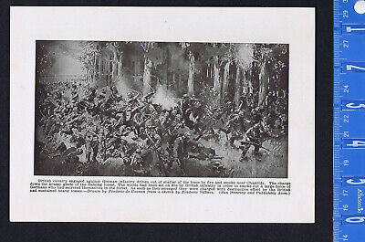 WWI Images: British Cavalry Against German Infantry & GEN Cronkhite -1919 Print