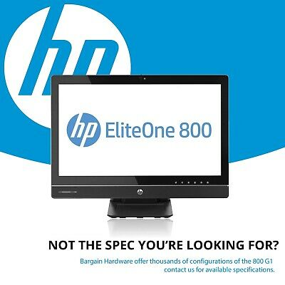 HP EliteOne 800 G1 All-in-One TouchScreen 4th Gen i7 Quad Core Win 10 16GB RAM