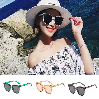 Women Fashion Vintage Retro Cat Eye UV400 Oversized Sunglasses Eyewear Shades CZ