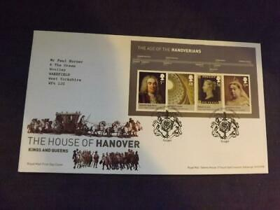 2011 House of Hanover Miniature Sheet First Day Cover London SW1 SHS MD