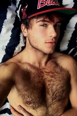 Shirtless Male Muscular Cute Handsome Hunk Hairy Chest Beefcake PHOTO 4X6 F1443