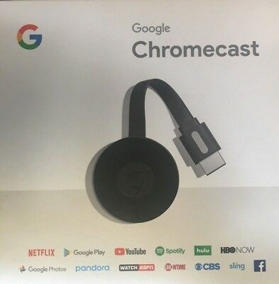 Google Chromecast (2nd Generation) HD Media Streamer - Black BRAND NEW !
