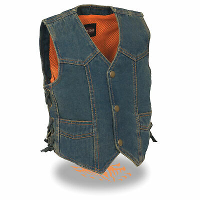 Milwaukee Leather Kids *Basic *Side Lace *Three Snap Front Vest **SH2011L