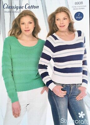 cd708b768 STYLECRAFT 9181 KNITTING Pattern Ladies Sweaters in Cabaret DK ...