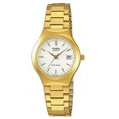 Casio Women's LTP-1170N-7A 'Classic' Gold-Tone Stainless Steel Watch - White