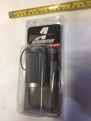 AEROMOTIVE STAINLESS STEEL100 MICRON FILTER ELEMENT 12604 NEW race
