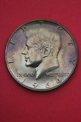 Nice Toned 1964 P Proof Silver Kennedy Half Dollar Flat Rate Shipping OCE026