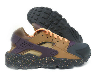 new product 102c2 a4ff1 704830-012 Nike Air Huarache Run Premium (Anthracite   Purple) Men Sneakers