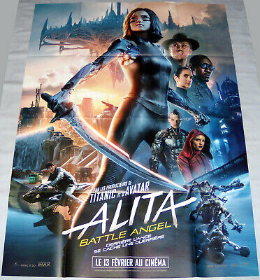 ALiTA BATTLE ANGEL  Gunnm  Rosa Salazar Sci-fi  Cyberpunk   LARGE French POSTER