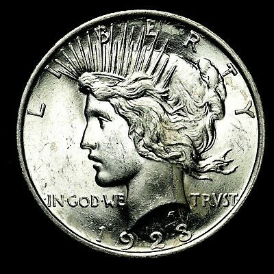 1923 P ~**UNCIRCULATED**~ Silver Peace Dollar US Old Rare Coin! #240