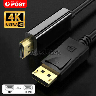 UltraHD 4K*2K DisplayPort DP to HDMI Cable Male 1.8M With Audio Converter Cord