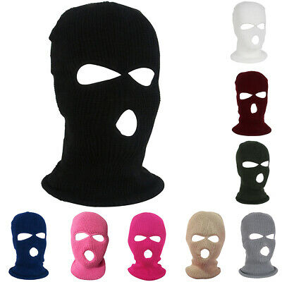 Winter Warm 3 Hole Knitted Face Mask Balaclava Hat Ski Army Cap Beanie Hood Hot