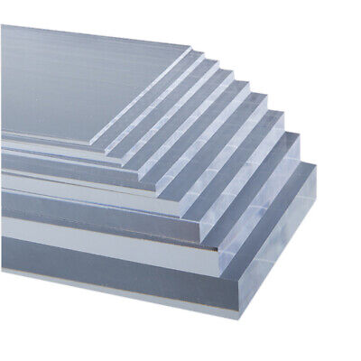 2/4pcs Clear Acrylic Sheet Laser Cut Plastic Plate Glass Thick 2/4/5/6/8/10mm