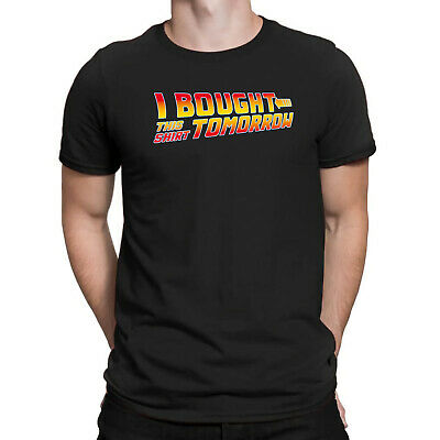 Back To The Future I Bought This Shirt Tomorrow Funny Men's Black Cotton T-Shirt