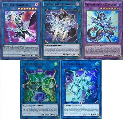 Yusaku Fujiki Complete Deck - Cyberse Quantum Dragon - Excode Yugioh - 52 Cards