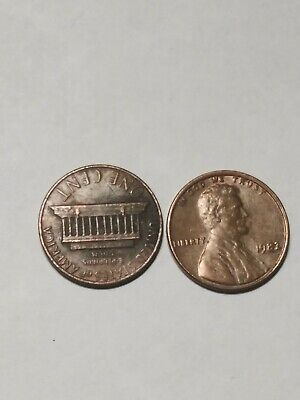 1982 Ddo Lincoln Memorial Penny Doubled Die