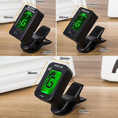 Digital LCD Chromatic Clip-On Tuner For Acoustic Electric Guitar Violin Ukulele