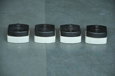 4 Pc Vintage Unique Bakelite & Ceramic Kerson Brand Electric Switches, England