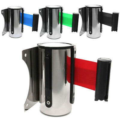 5M Wall Mount Crowd Control Warning Retractable Belt Barrier for Bank Park Hotel
