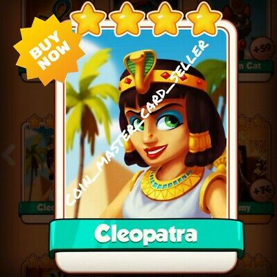 Cleopatra :- Coin master ( Fastest Delivery ) Card Seller
