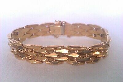 Beautiful Vintage 9ct Gold Fancy Link Ladies Bracelet 1988