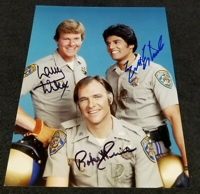 Erik Estrada//CHiPs TV Autograph 8X10 Photo #3 with COA EBAU-616
