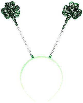 Fancy Dress Shamrock Glitter Head Boppers St Patricks Day Ireland Irish
