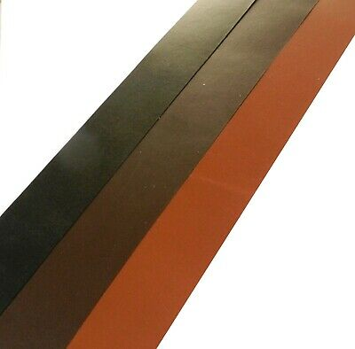 "Leather Belt Blanks 3.5Mm Thick Veg Tan Grainy Vintage Black - Brown 60""+ 155Cm"
