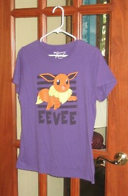 ff935503 Advertising 1980-Now Mighty Fine Pokemon Eevee Leap 133 Juniors T-shirt  Charcoal A7976KAF1 USSeller