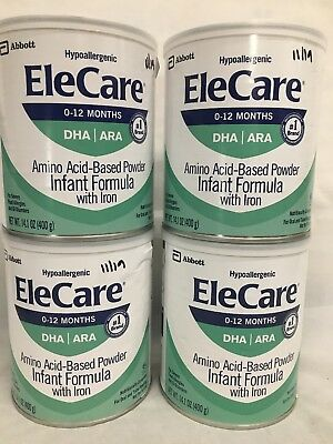 4 cans EleCare Infant Powder Baby Formula 2020 FREE PRIORITY SHIPPING AIMI