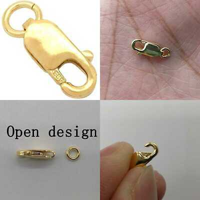 YELLOW GOLD Lobster Claw Clasp Chain Jewelry 10×4Mm Necklace Bracelet Connection