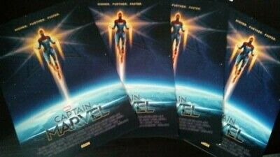 4x CAPTAIN MARVEL Posters A4 Higher Further Faster, Official Ltd Edition Posters