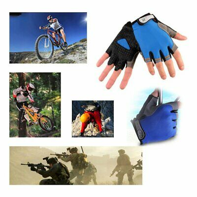 Weight Lifting Gym Fitness Body Building Sports Gloves Training Fingerless Gl BA