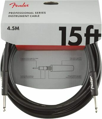 Fender Professional Series Electric Guitar Cable, Right-Angle to Straight 15' ft