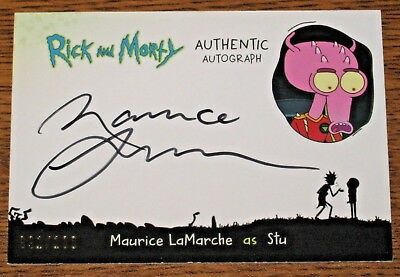 2018 Cryptozoic Rick and Morty Season 1 Maurice LaMarche as Stu Auto #'d 091/100