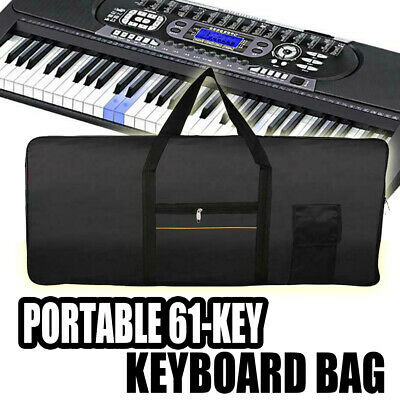 Portable Electric 61 Key Keyboard Piano Organ Carry Bag Case Waterproof Oxford