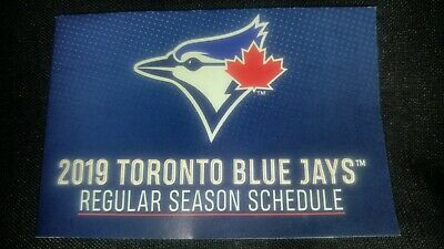 2019 Toronto Blue Jays 3 Pocket Schedules