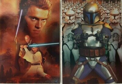 STAR WARS Episode II Attack of the Clones SILVER FOIL CARD SET of 10 topps 2002