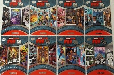 2017 Upper Deck Marvel Annual Trading Card Set   TOP 10 ISSUES TI 1 - 10