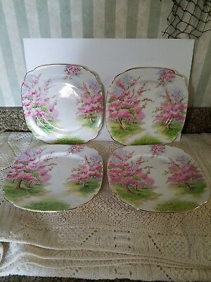 "Royal Albert Blossom Time 7 5/8"" Lunch or Salad Plate(s) Made in England"