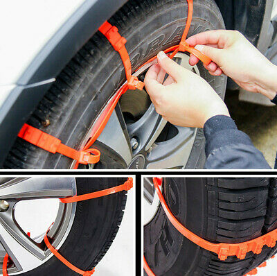 10Pc Winter Anti-Skid Chains  Car Snow Mud Wheel Tyre Thickened Tire Tendon 2019