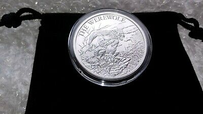 1  Ounce Fine Silver .999 Werewolf Collectible Round with Capsule & Velvet Pouch