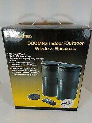 900 MHz Indoor/Outdoor Wireless Speakers 150 Foot Range iPhone Compatible