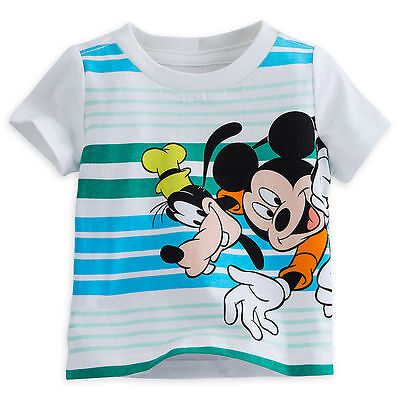 be85f283c962 DISNEY STORE MICKEY Mouse & Goofy Boys T Shirt Tee Baby Size 3 6 9 ...